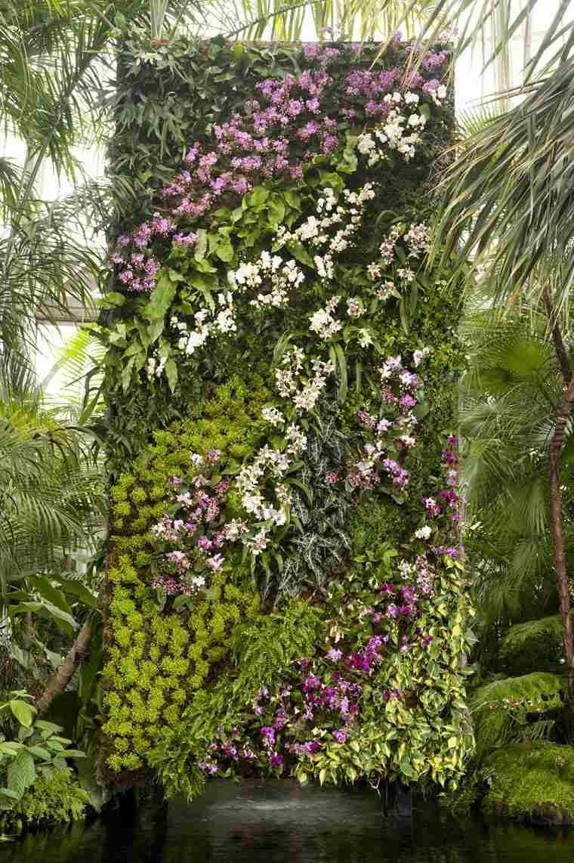 muro flores bandas moradas vertical