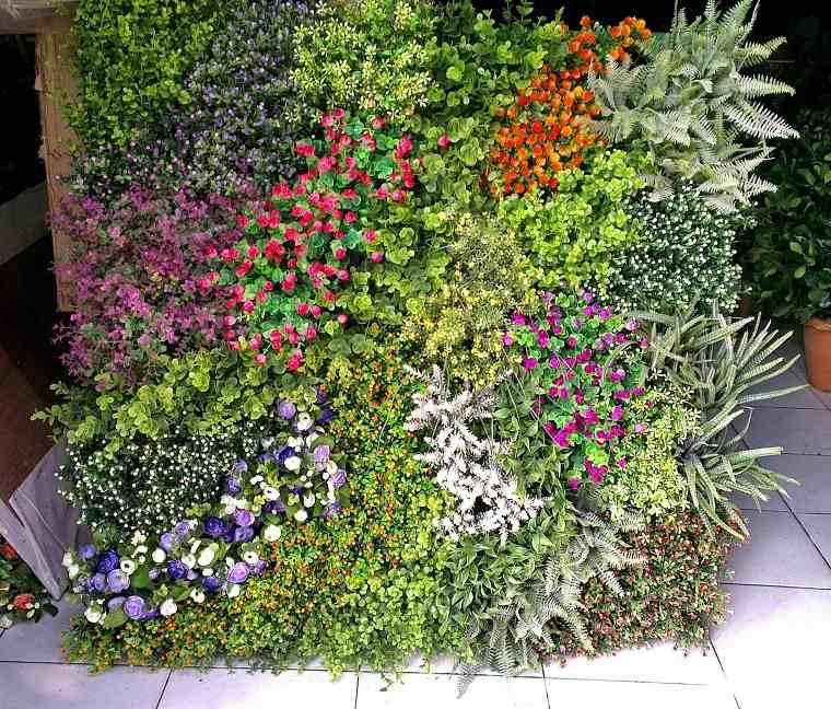 muro pared flores todos colores