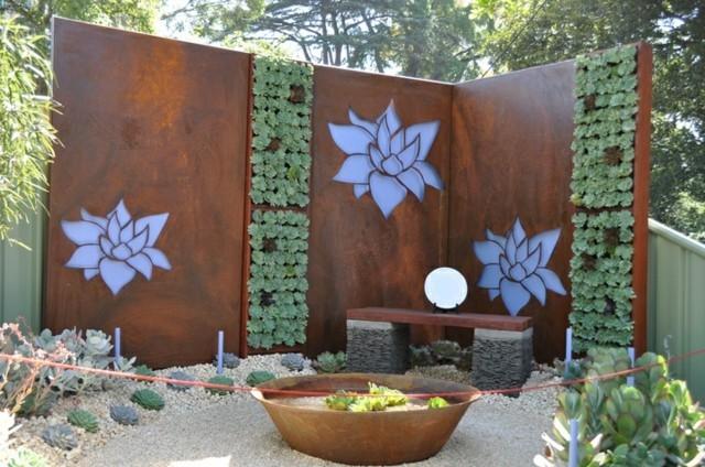 muro jardin suculentas vertical decoracion