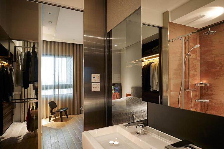 naturaleza dormitorio asiatico casa espejo ideas