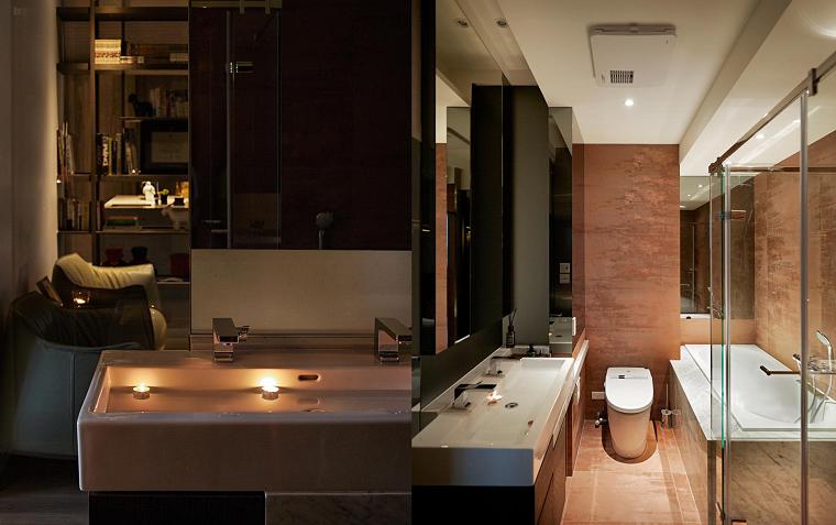 naturaleza interior baño casa asiatica ideas