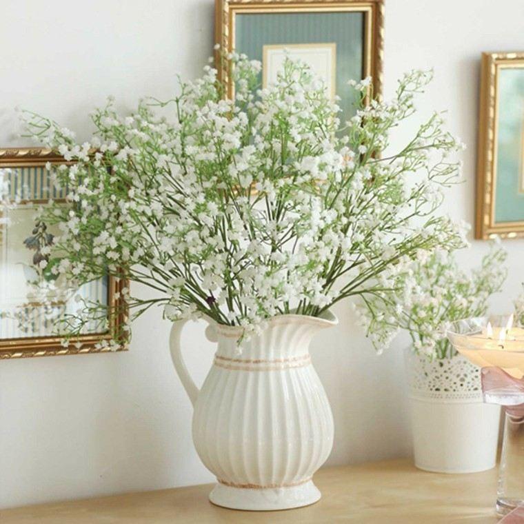 naturalismo casa jarron blanco ideas jarra flores