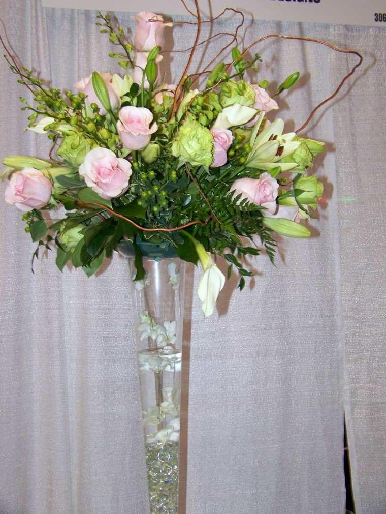 naturalismo flores ramo jarron cristal precioso