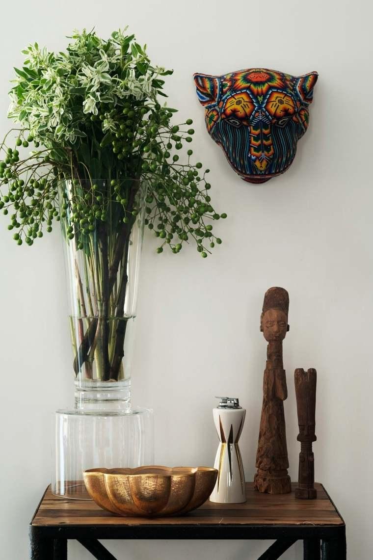 naturalismo jarron ramo flores silvestres ideas