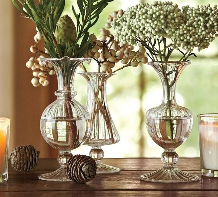 naturalismo jarrones cristal decoracion navidad ideas modernas - Jarrones De Cristal