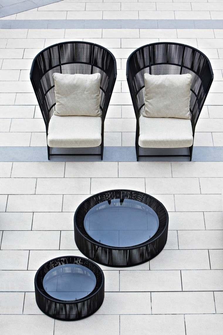 negro mesas cafe sillas ideas comoda coleccion