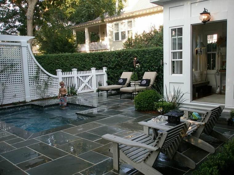 niño patio moderno piscinas baldosas
