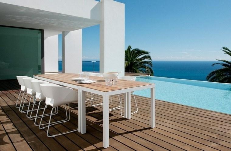 nuevo estilo exterior muebles comer idea vista oceano