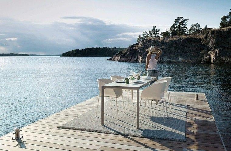 nuevo estilo vintage sillas blancas ideas exterior