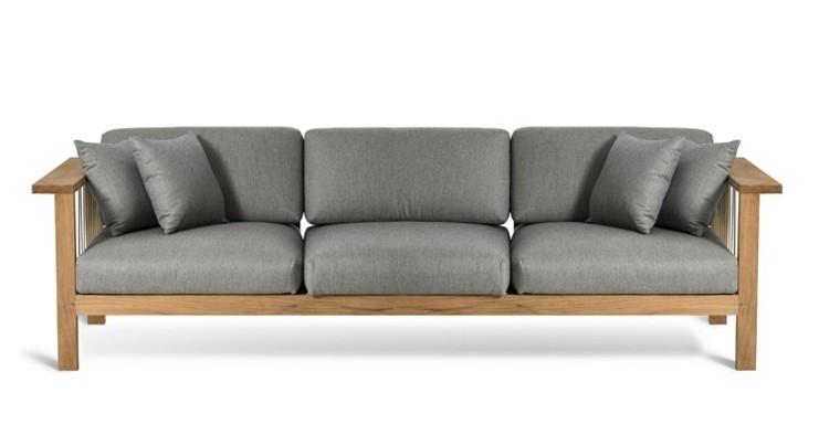 oasiq diseño sofa gris madera