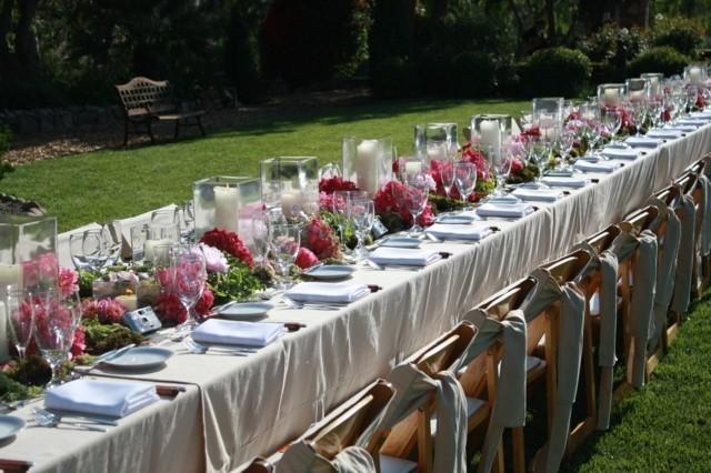 la primavera ideas mesas largas velas flores colores llamativos