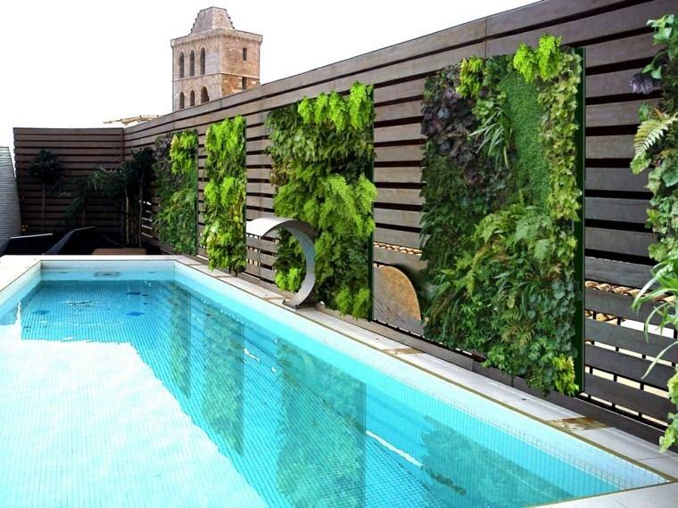 Mundo natural en interiores y exteriores for Jardines de pared para interiores
