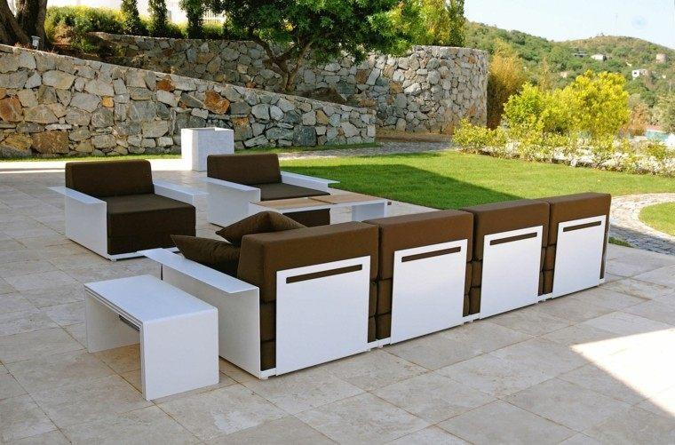 paisajes naturales muebles jardin moderno comodos blanco ideas
