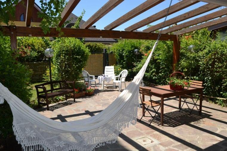 paisajes naturales pergola muebles madera plastico jardin moderno