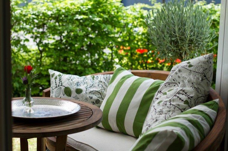 paisajes naturales banco cojines ideas jardin comodo