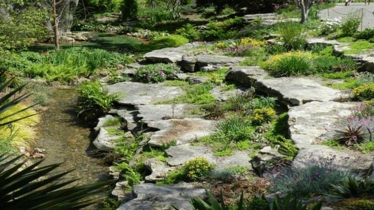 paisasje natural agua rocas escalones