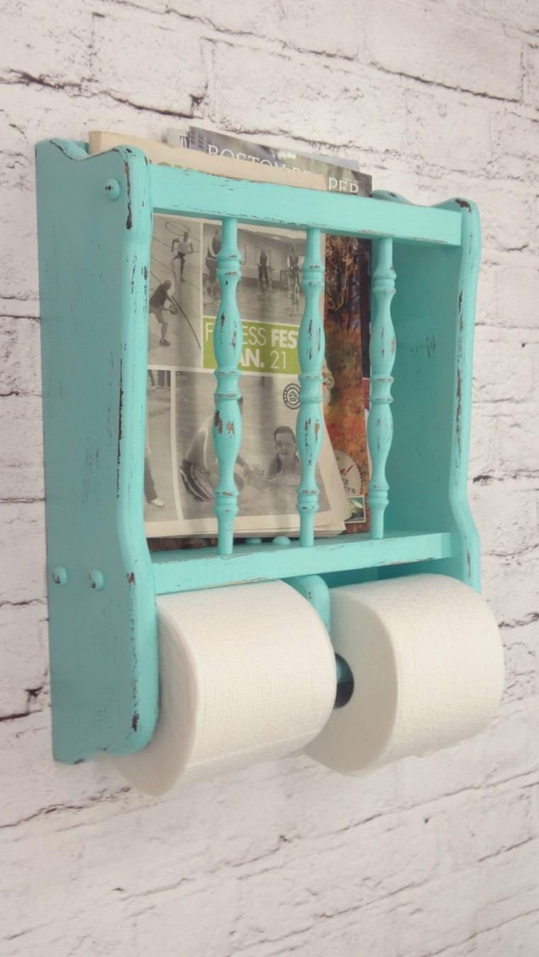 papel higiénico celeste shabby chic