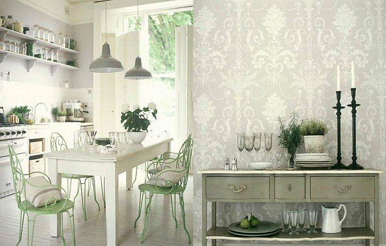 papel pared cocina estilo clasico
