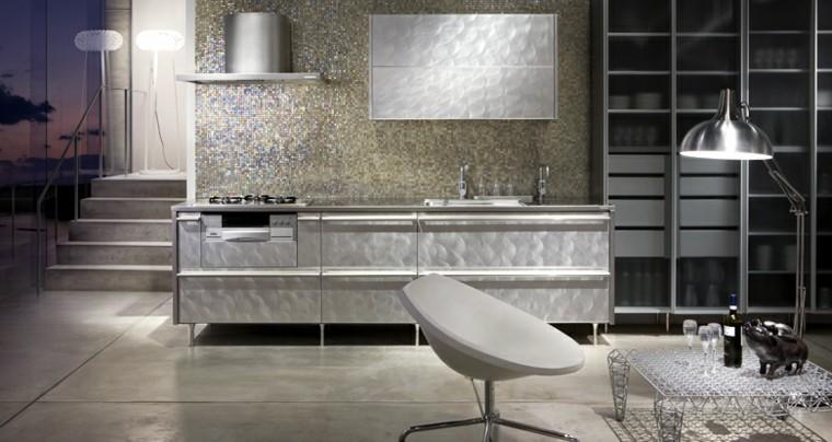 papel pared plata cocina futurista