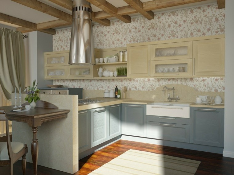 Papeles pintados para las paredes de la cocina for Small traditional kitchen designs