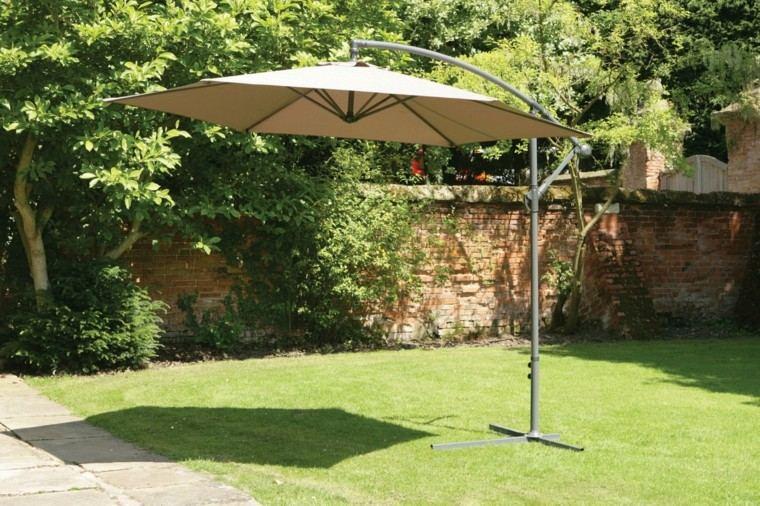 parasol colgante pie metal