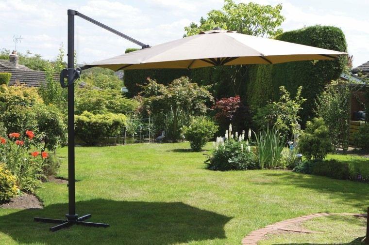 parasol color beige jardin