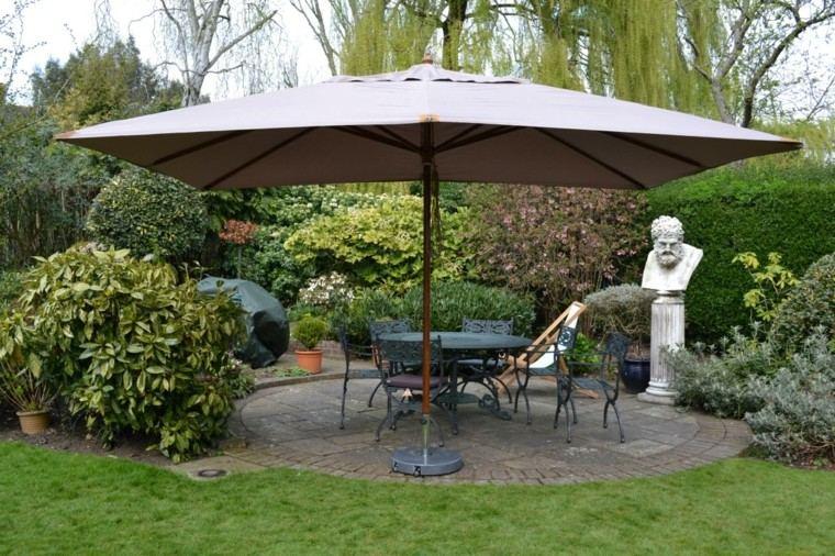 parasoles jardin estilo clasico