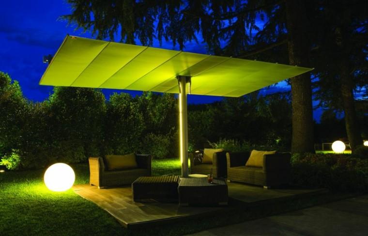 parasol color verde moderno