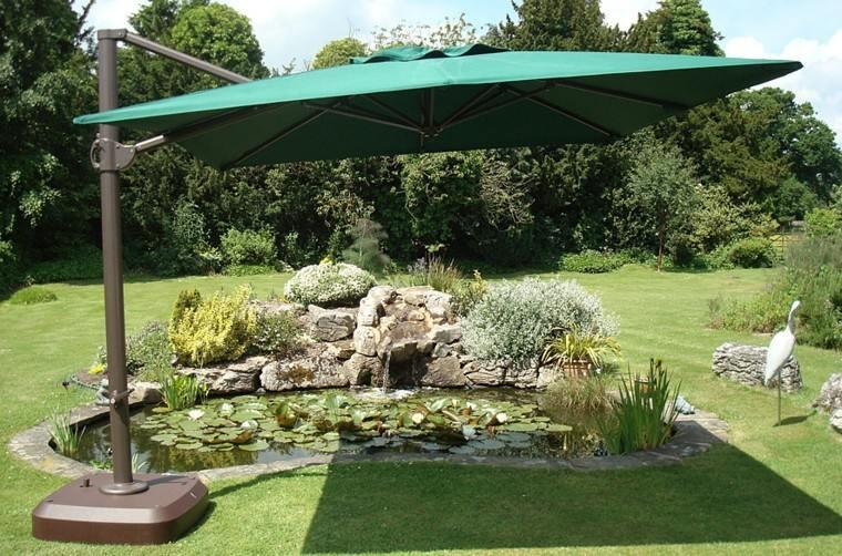 Parasoles jardin sombras refrescantes para el verano for Carpas de madera para jardin