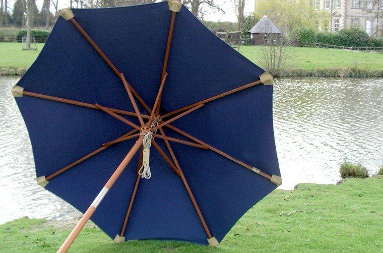 sombrilla clasica color azul