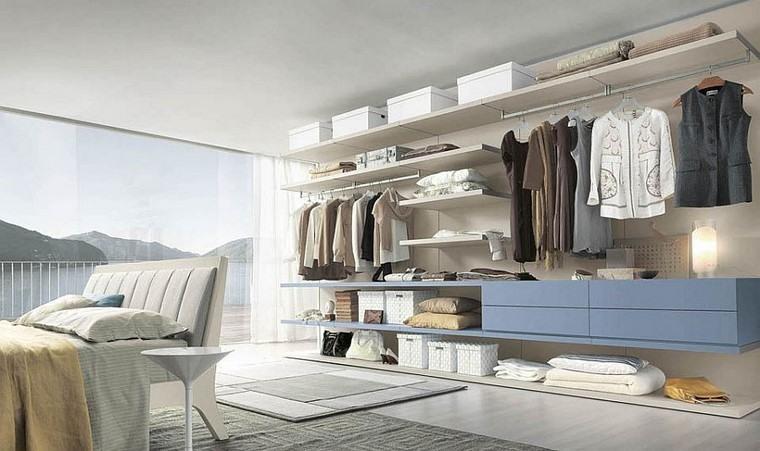 pared abierta armario diseño amplio dormitorio