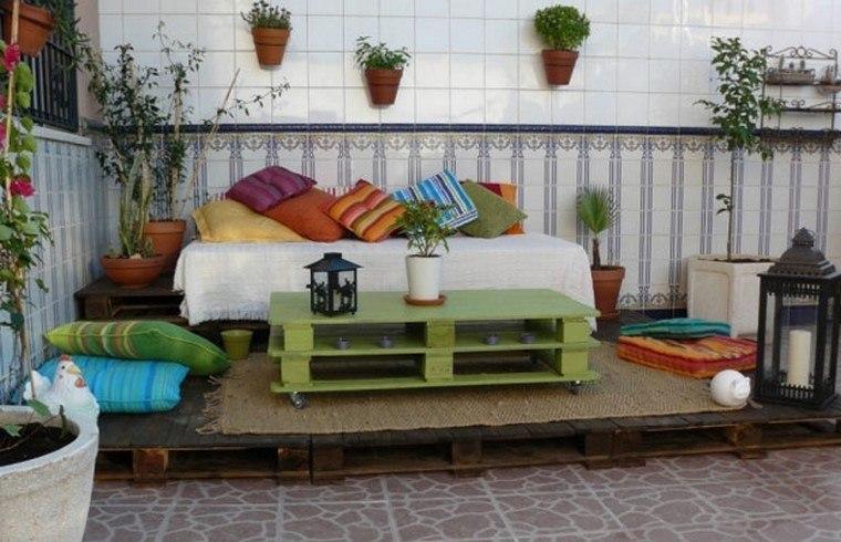 Mobiliario de jard n con palets exclusividad en tu patio for Patio decorado