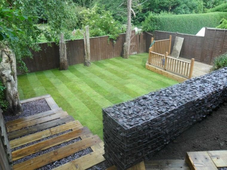 patio estupendo diseño escaleras muro