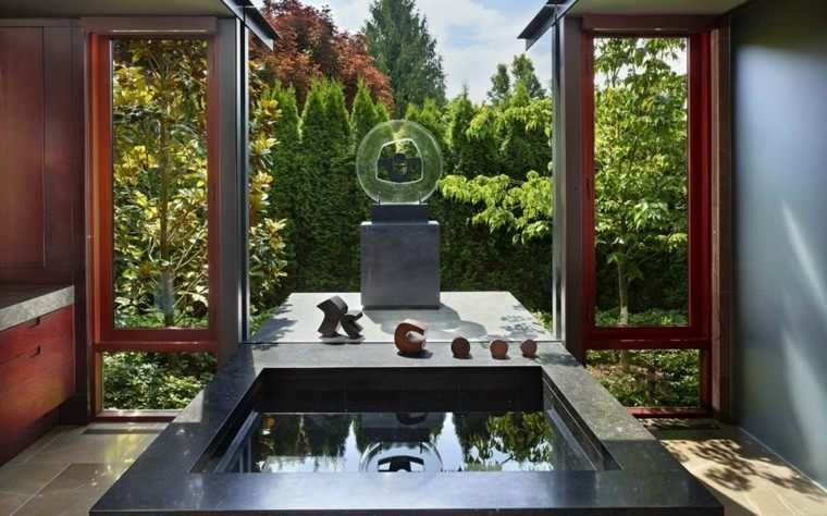patio jardin estilo moderno zen