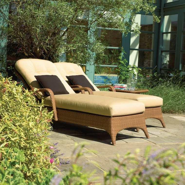 patio lajas cojines ajustable elegantes