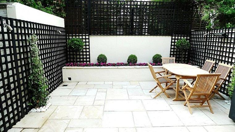 patio moderno rejas negras estilo ideas amplio