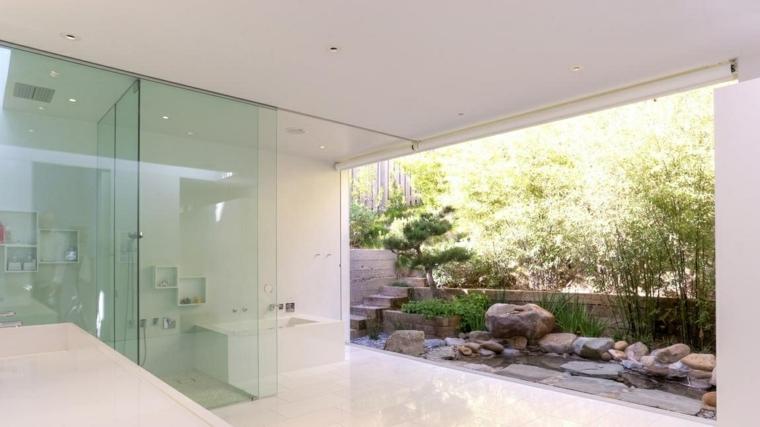 patio pequeño bonito minimalista blanco