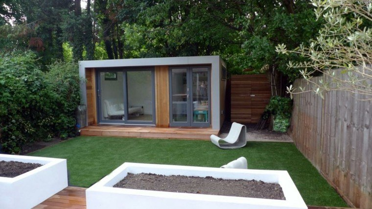 Jardines peque os y patios traseros de dise o nico for Minimalist house design uk