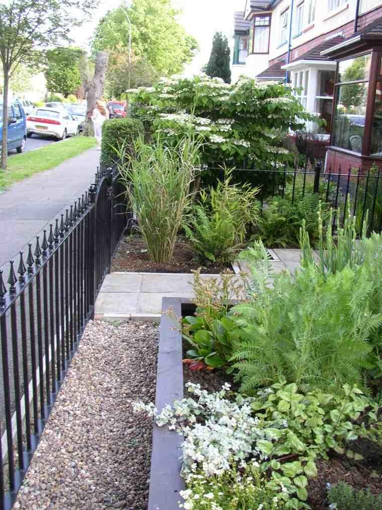patio pequeño paisajismo moderno vallas