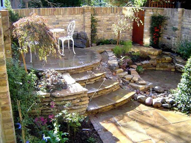 patio-plazoleta-redonda-escaleras Ideas Para Corner Backyards on ideas para garage, ideas para kitchen, ideas para wedding, ideas para party, ideas para spa, ideas para front yard,