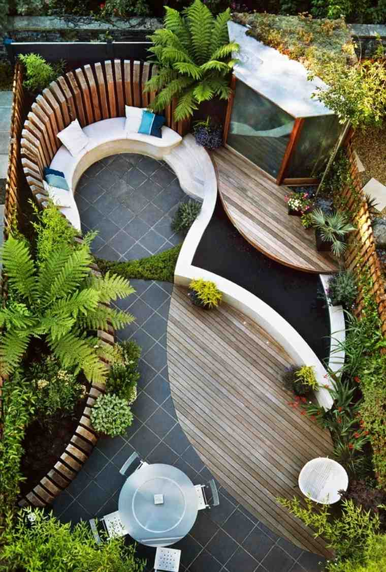 Jardines peque os y patios traseros de dise o nico - Front de liberation des nains de jardin ...