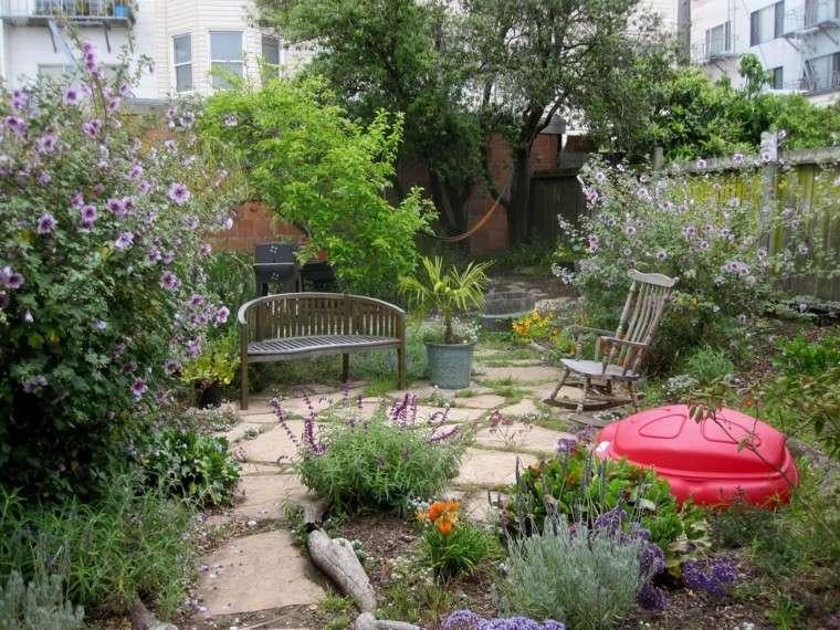 patio trasero plantas creativo tradicional