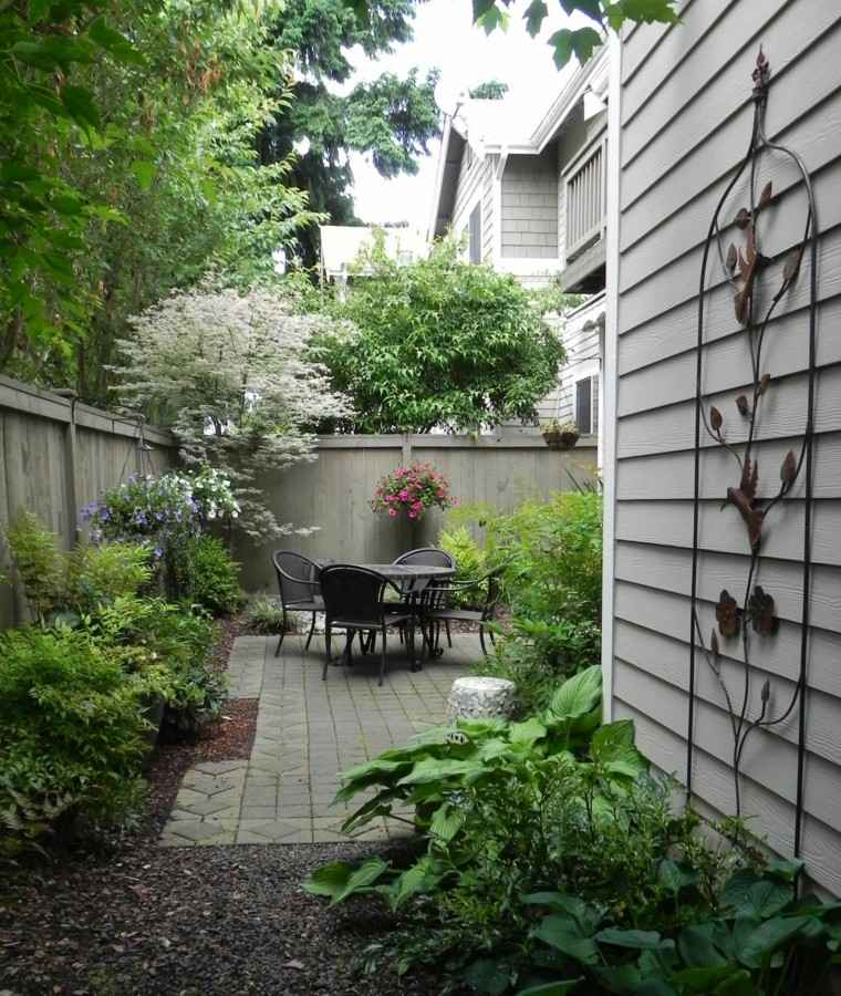 patio trasero terraza pequeña comedor