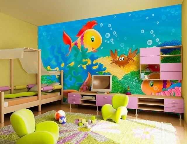 peces fondo marino juguetes muebles rosa