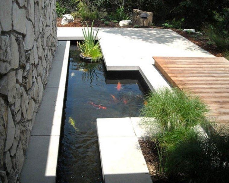 peces plantas puente diseño madera