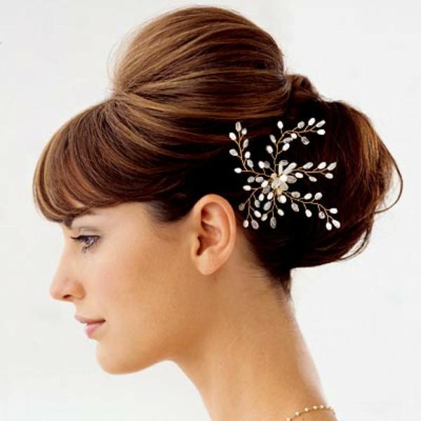 peinados de novia tupe volumen
