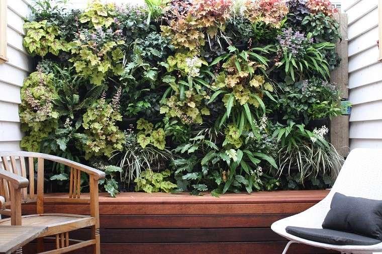pequeña terraza jardín vertical patio