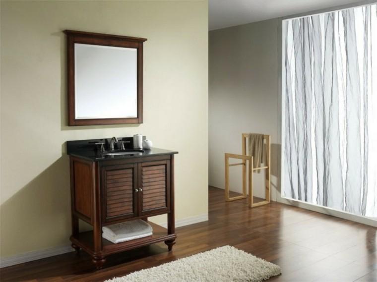 pequeño lavabo madera minimalistra tradicional