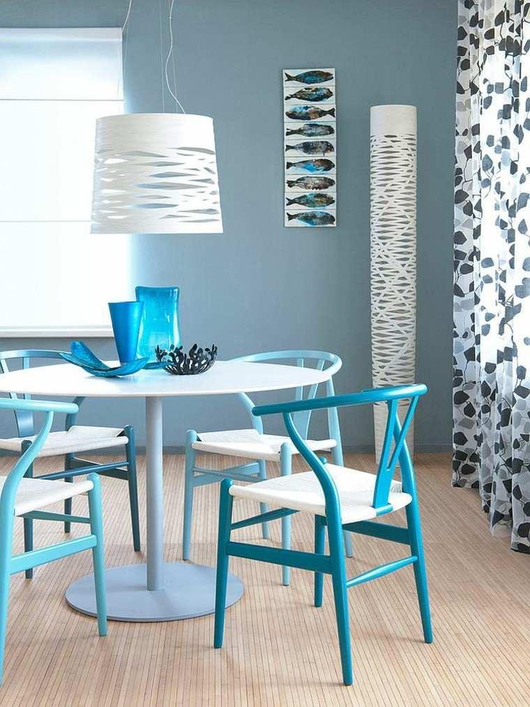 pequeño mobiliario azul comedor accesorios