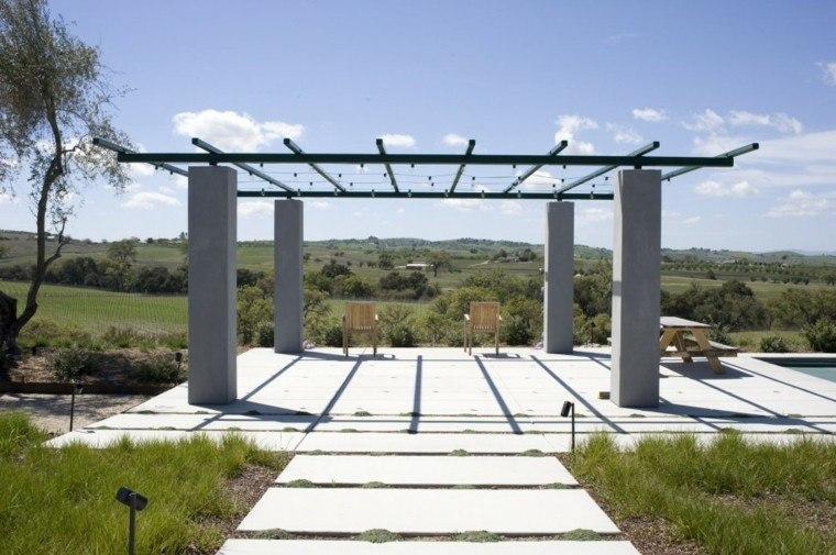 pergola grande estructuras metalicas techo